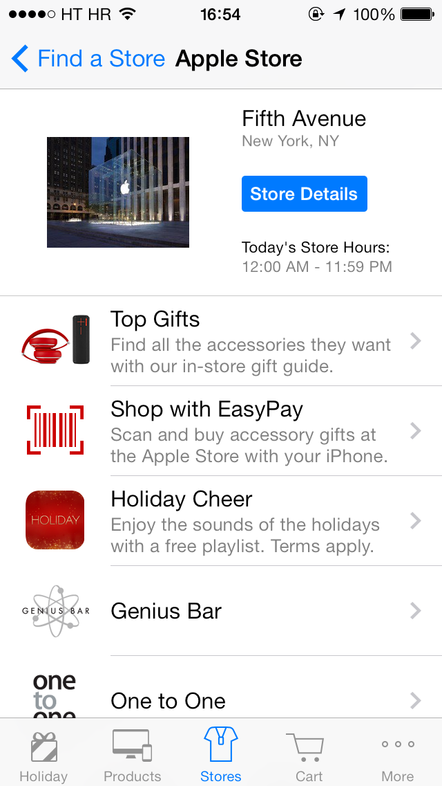 Apple 2013 Holiday Playlist (Apple Store app, iPhone screenshot 001)
