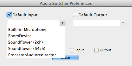 Audio Switcher Preferences
