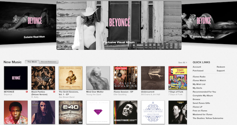 Beyonce iTunes