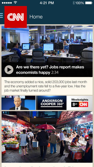 CNN 2.0 for iOS (iPhone screenshot 001)