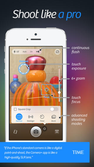 Camera 5 for iOS (iPhone screenshot 002)