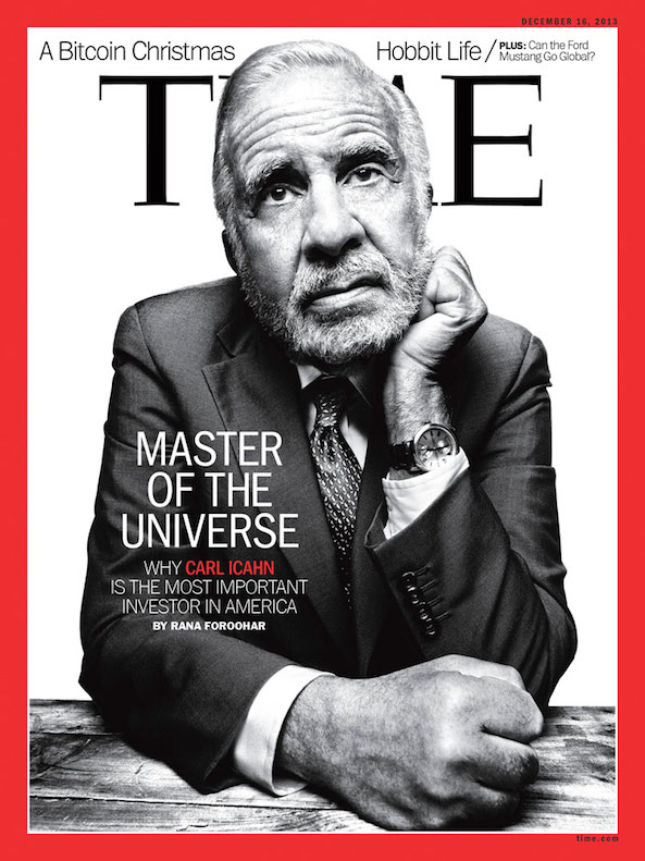 Carl Icahn Time cover