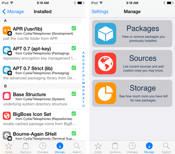 upgrade firmware using cydia ios 9