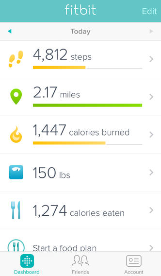 Fitbit 2.1 for iOS (iPhone screenshot 001)