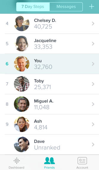 Fitbit 2.1 for iOS (iPhone screenshot 002)