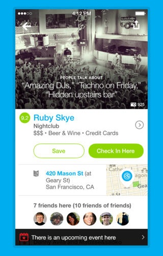 Foursquare 7 for iOS (iPhone screenshot 002)