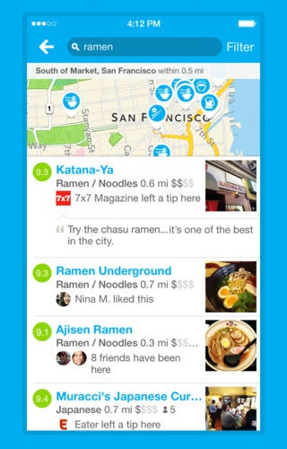 Foursquare 7 for iOS (iPhone screenshot 003)