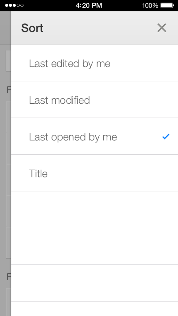 Google Drive 2.2 for iOS (iPhone screenshot 003)