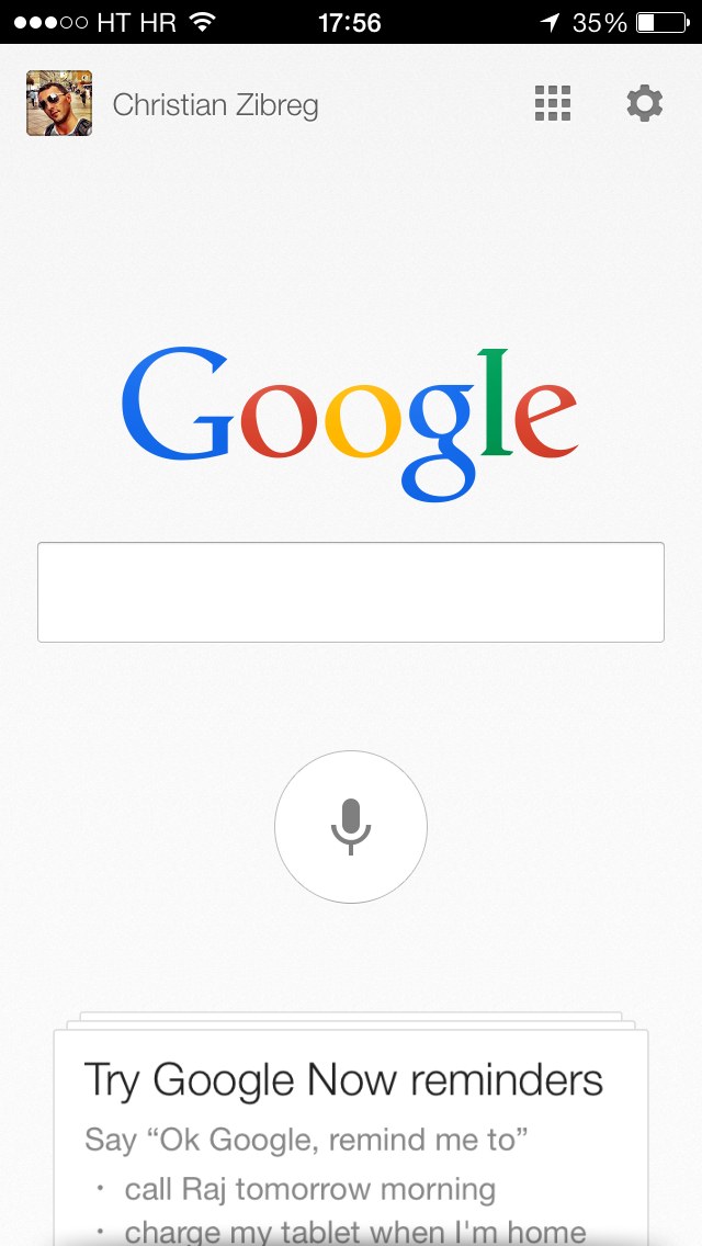 Google Search 3.2 for iOS (iPhone screenshot 004)