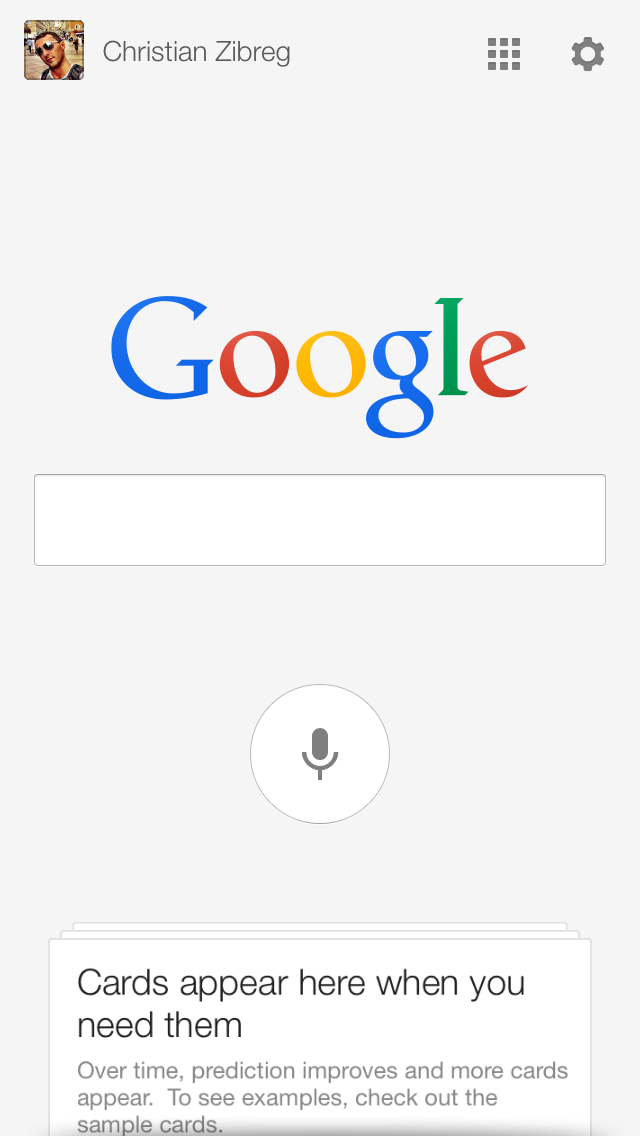 Google Search 3.2 for iOS (iPhone screenshot 005)