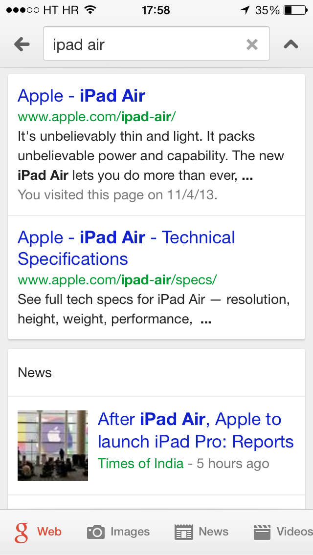 Google Search 3.2 for iOS (iPhone screenshot 006)