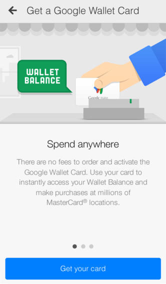 Google Wallet 2.0 for iOS (iPhone sccreenshot 001)
