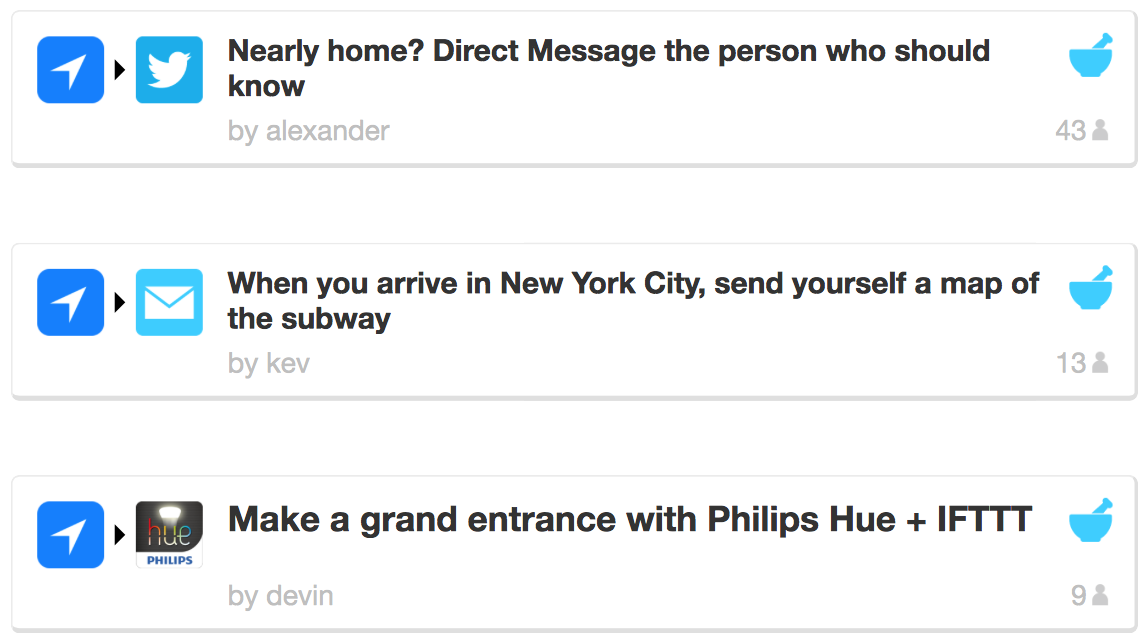 IFTTT 1.3 for iOS (Location recipes 001)
