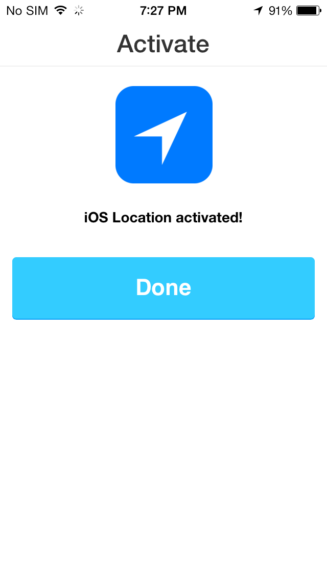 IFTTT 1.3 for iOS (iOS Location channel, iPhone screenshot 003)