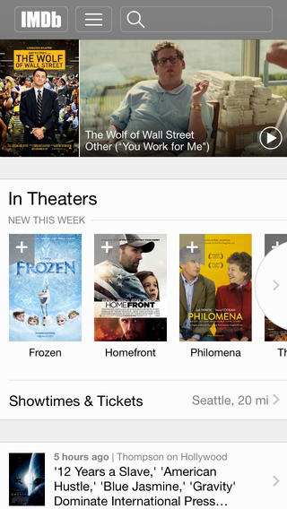 IMDB 4.0 for iOS (iPhone screenshot 001)
