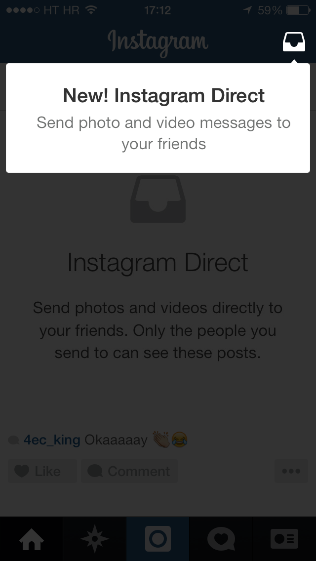Instagram Direct (iPhone screenshot 005)