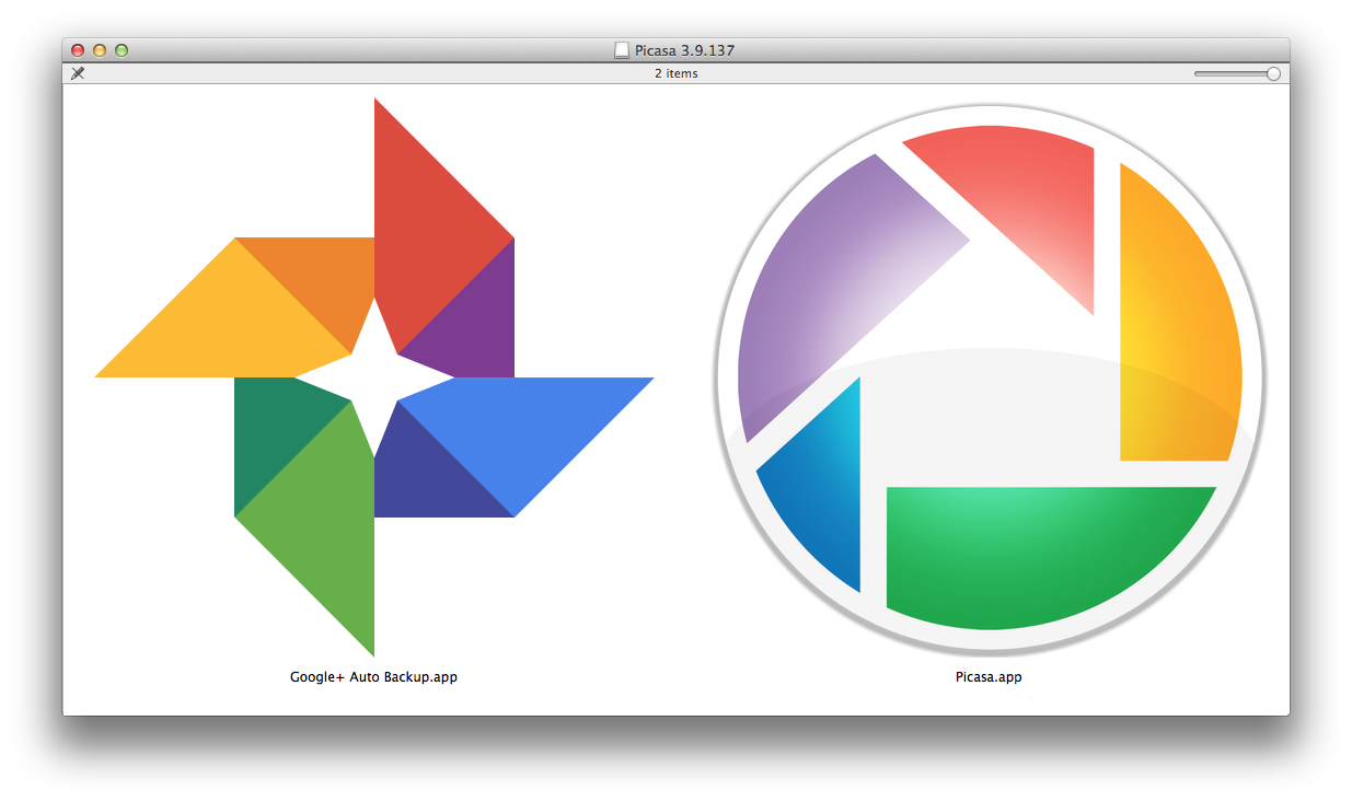 Picasa 3.9 for Mac (about)