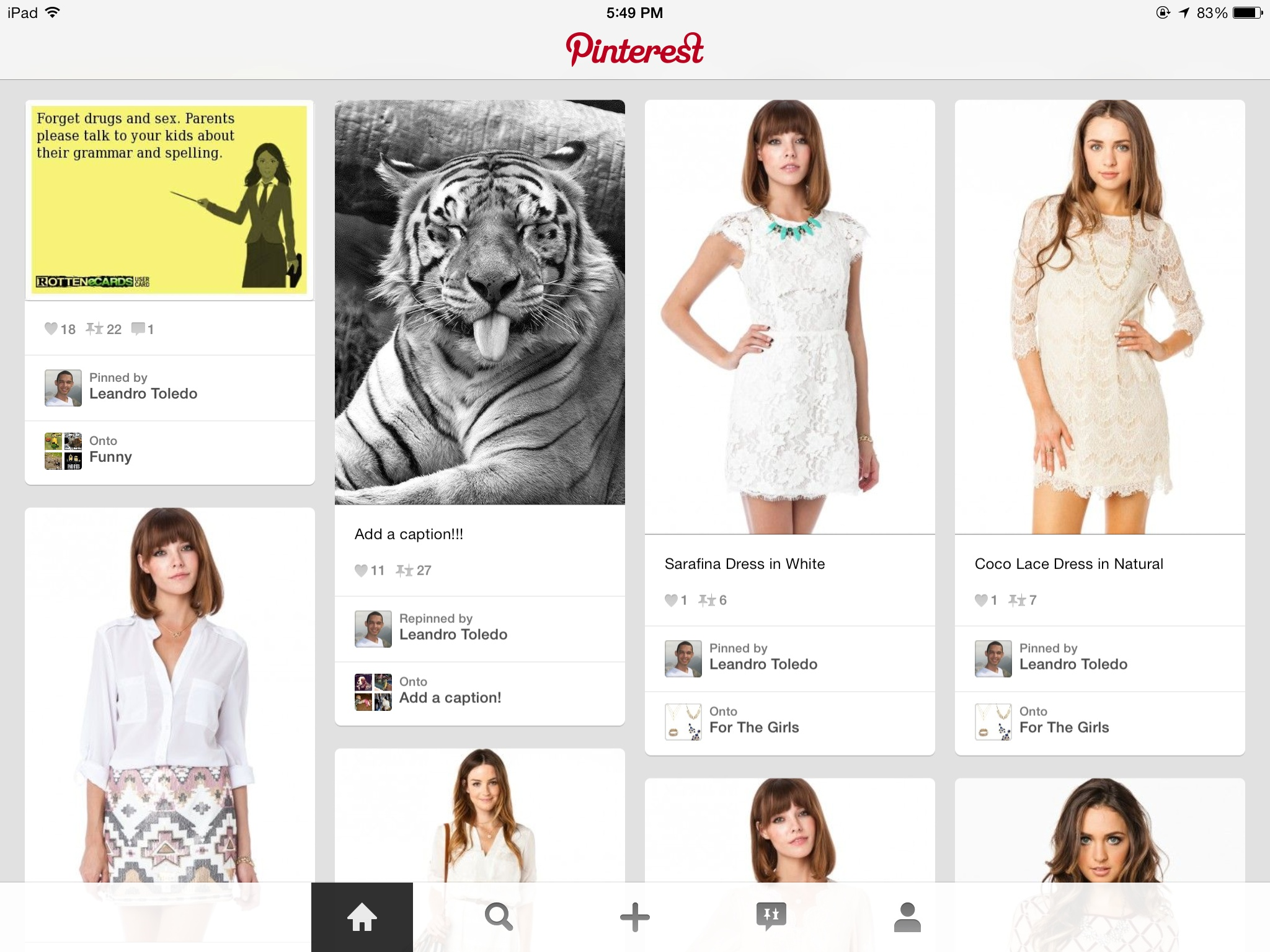 Pinterest 3.3 for iOS (iPad screenshot 003)
