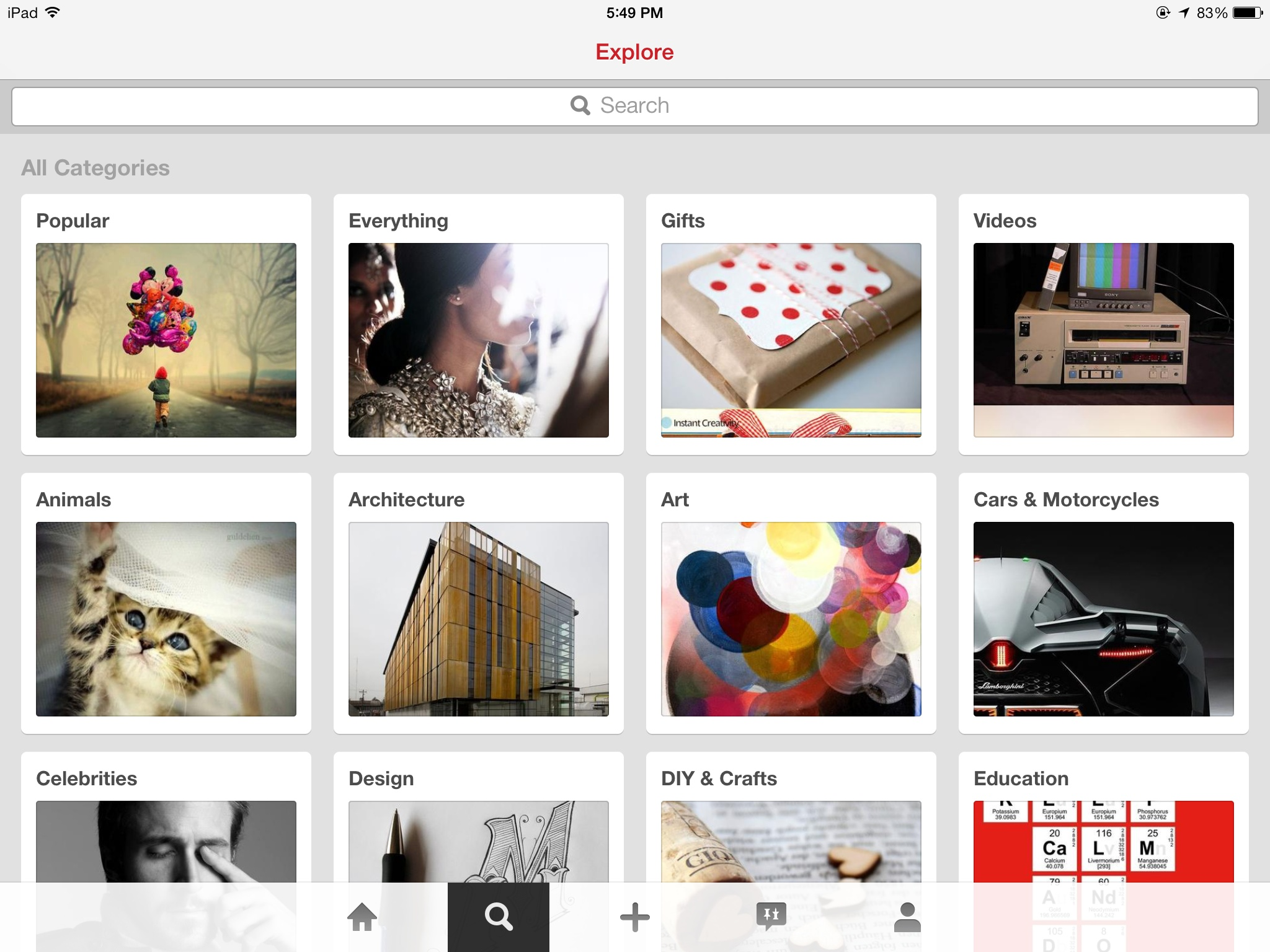 Pinterest 3.3 for iOS (iPad screenshot 004)