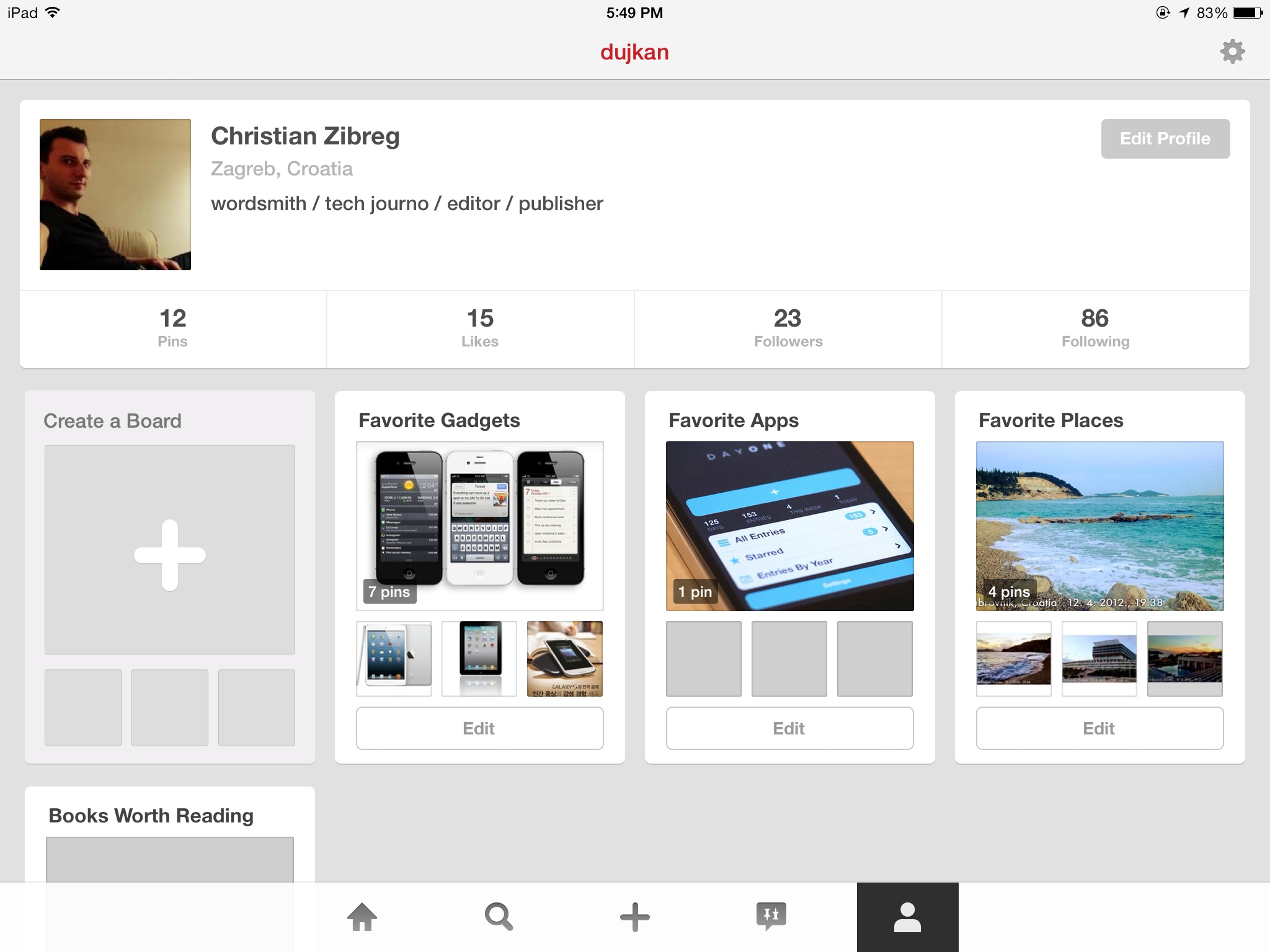 Pinterest 3.3 for iOS (iPad screenshot 006)