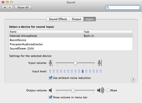 Preferences Sound