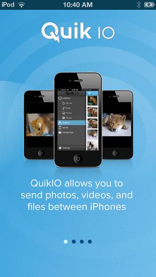 QuikIO for iOS (iPhone screenshot 001)