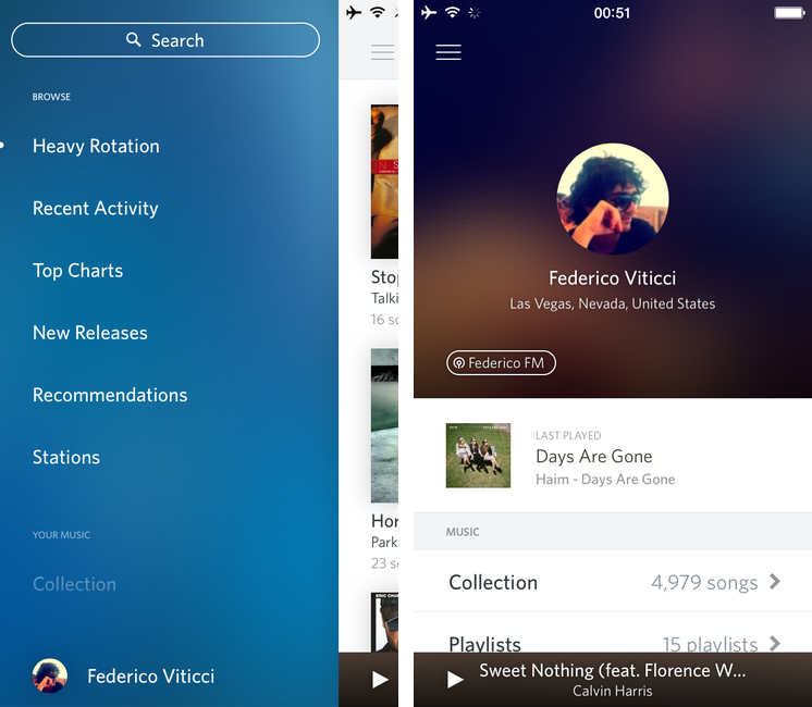 Rdio 2.5.4 para iOS (captura de pantalla de iPhone, MacStories 001)