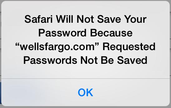 Safari no guardará las contraseñas destacadas