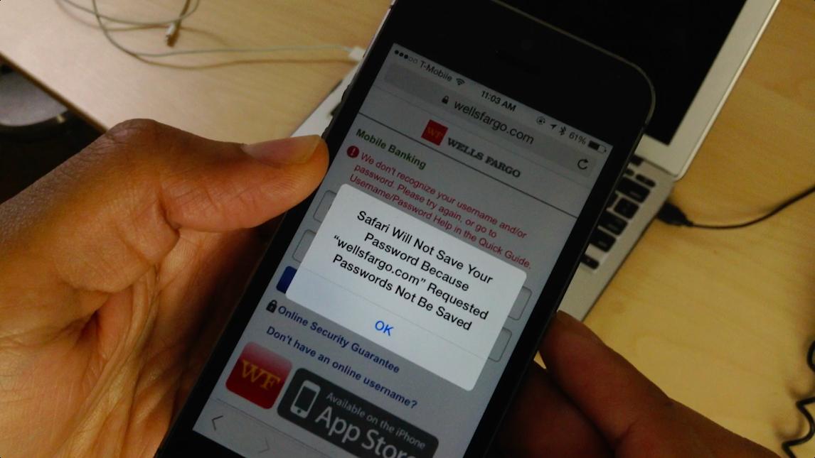 Safari Will Not Save Your Password Because