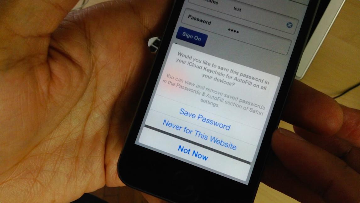 Safari iCloud Keychain Save Dialogue