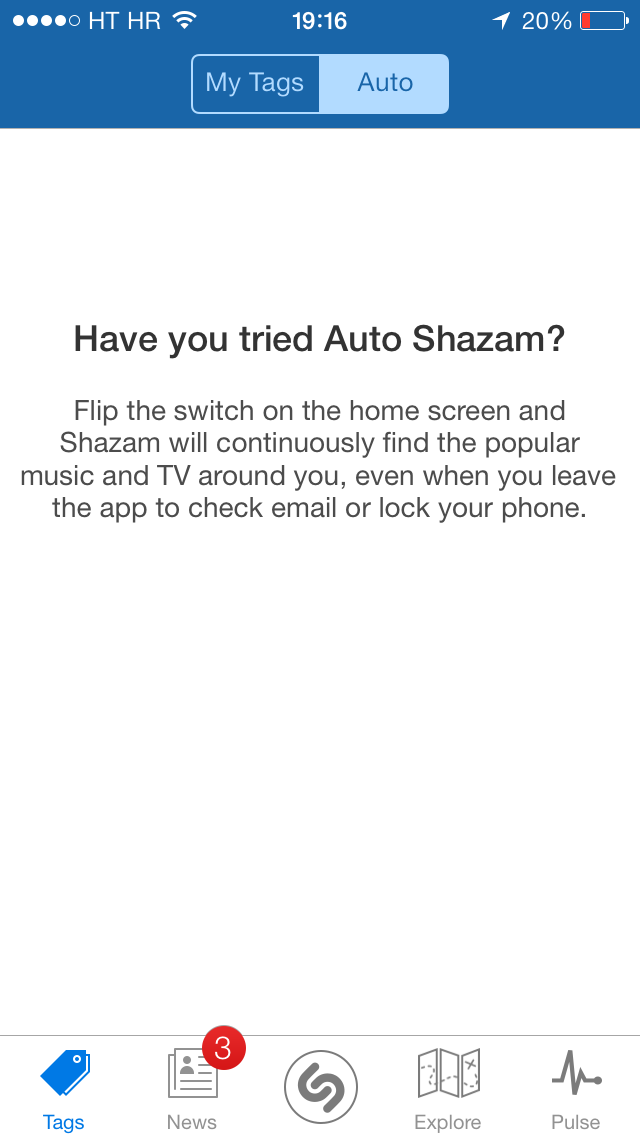 Shazam 7.3 for iOS (iPhone screenshot 003)