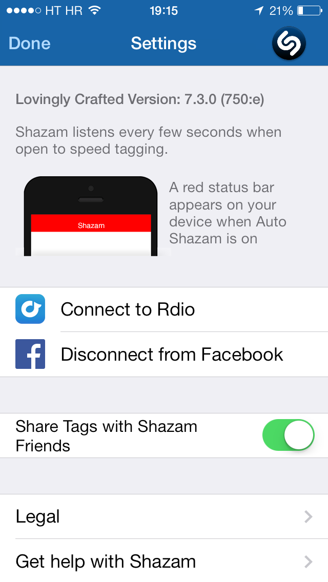 Shazam 7.3 for iOS (iPhone screenshot 004)