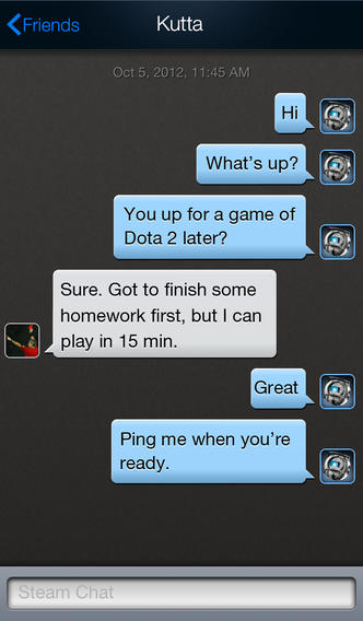 Steam 1.3 for iOS (iPhone screenshot 002)
