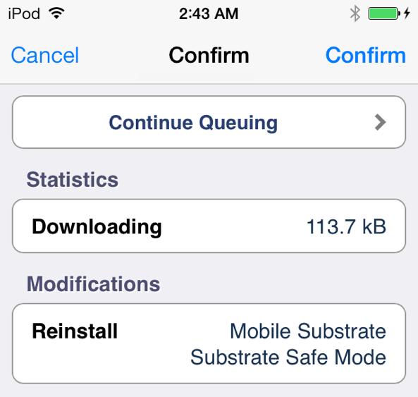 Substrate Install Cydia