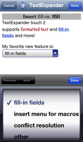 TextExpander 2.3 for iOS (iPhone screenshot 002)