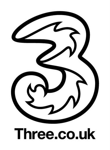Three logo (medium, black and white, no letters)