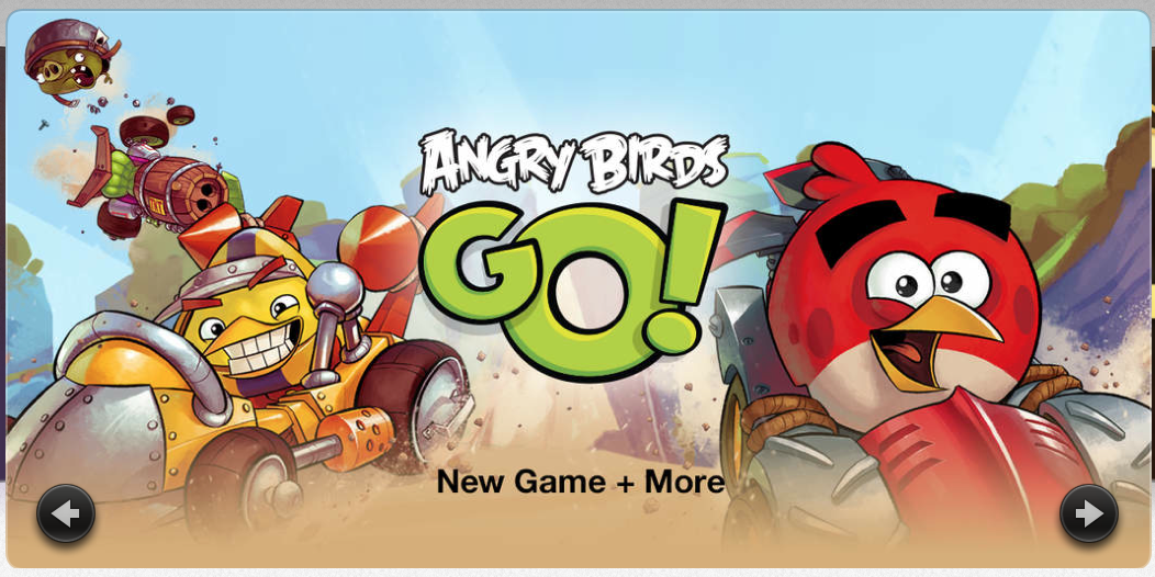 angry birds go banner