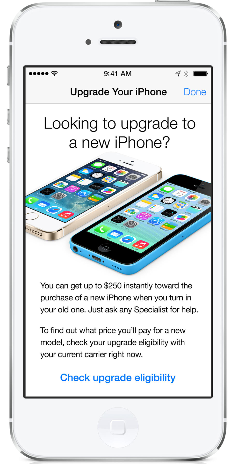 iBeacons Apple Store app (iPhone screenshot 005)