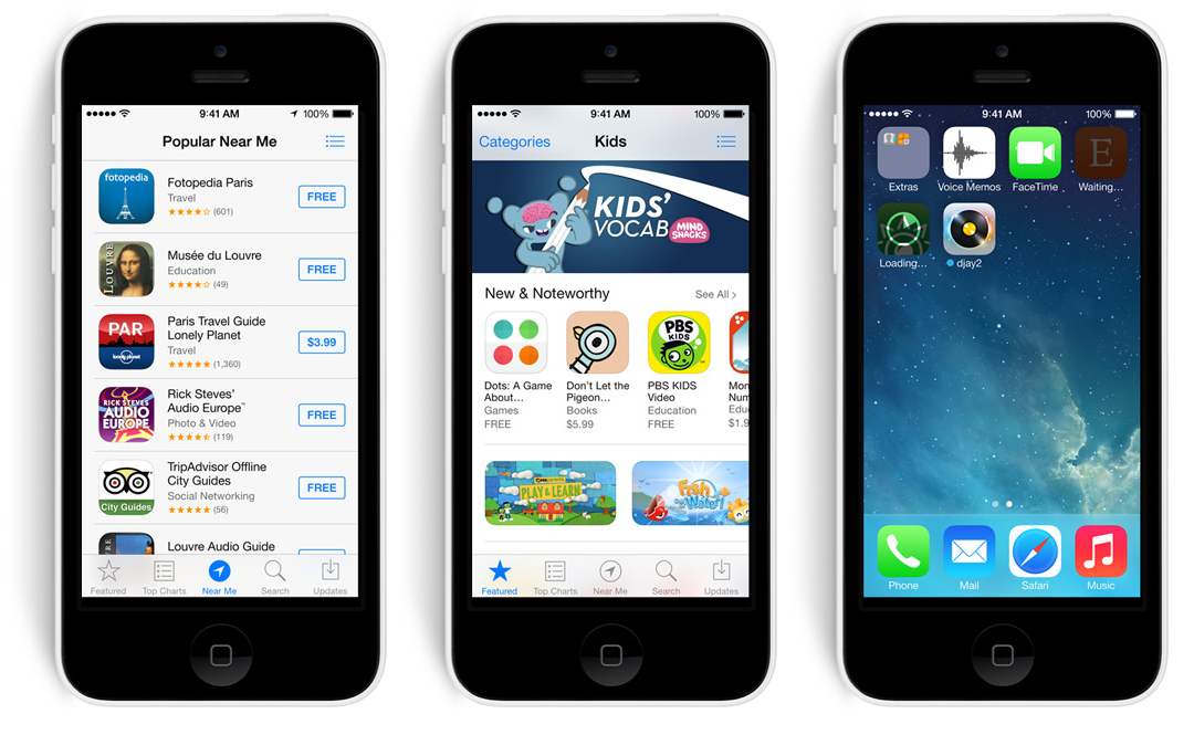 iPhone 5c App Store apps