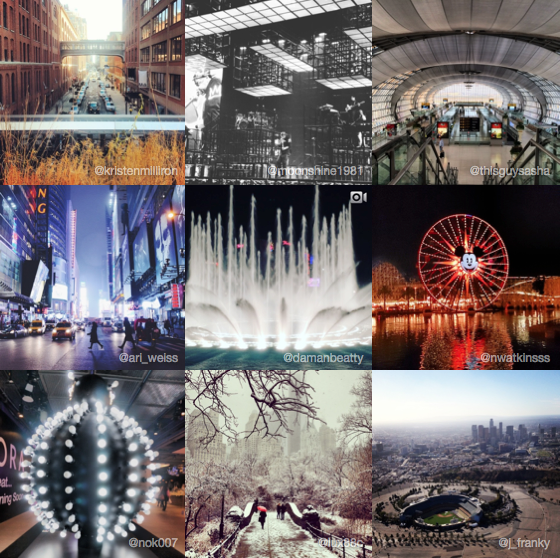 most instagrammed cities locations of 2013