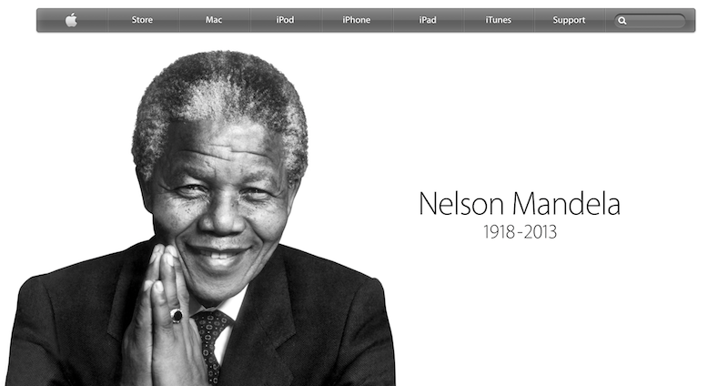 nelson mandela apple