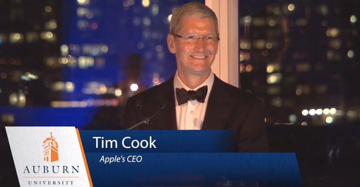 tim cook auburn speech