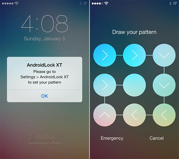 AndroidLock iOS 7