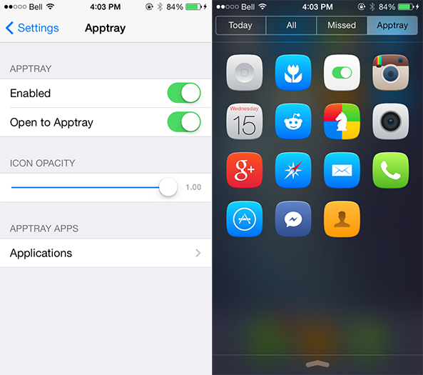 AppTray iOS 7