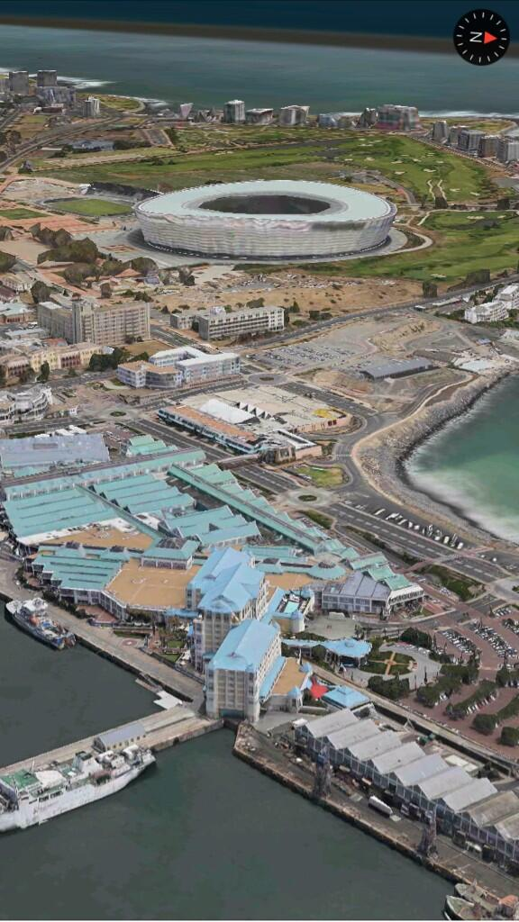 Apple Maps 3D Flyover (Cape Town, South Africa, iPhone screenshot 001)