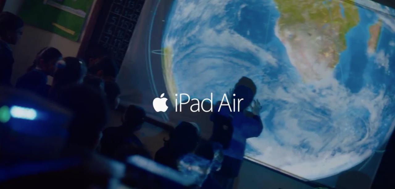 Apple iPad Air ad (Light Verse, short)