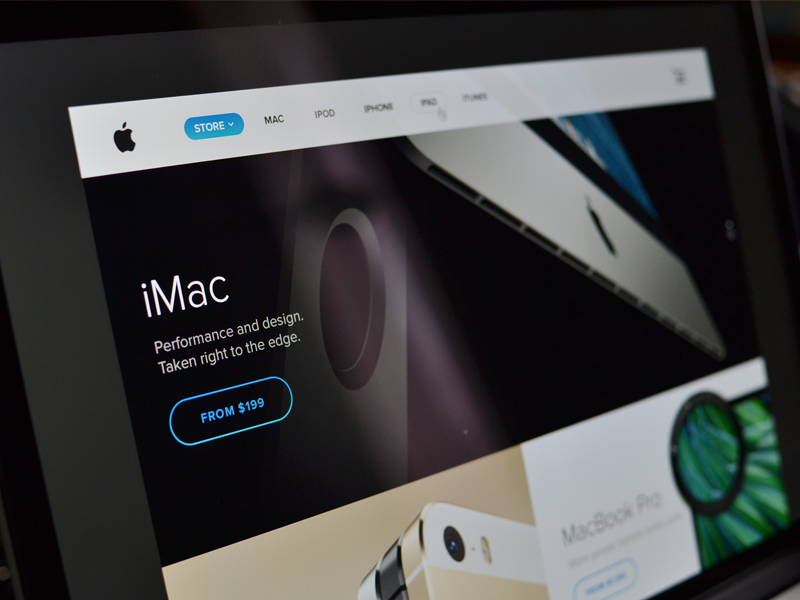 Apple.com redesign concept (Sebastiano Guerriero 001)