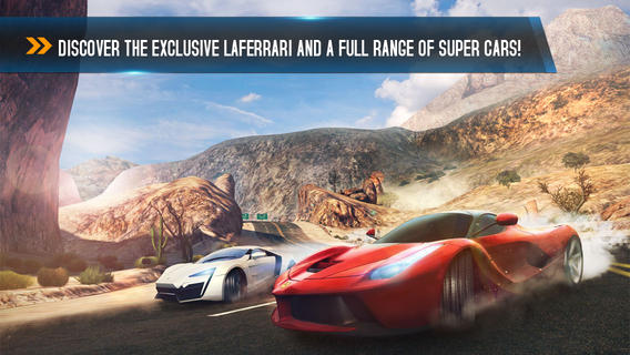 Asphalt 8 1.2 for iOS (iPhone screenshot 001)