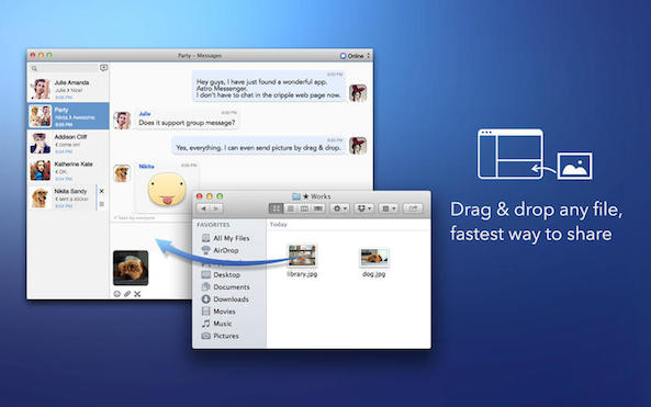 Astro is a Facebook Messenger client for your Mac