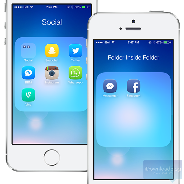 BetterFolders iOS 7